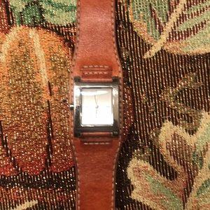 DKNY tan leather watch